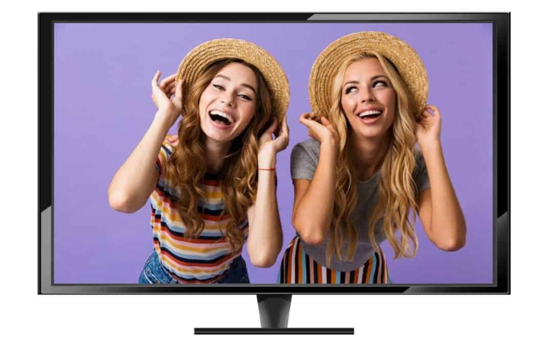 Photobooth huren met tv op statief